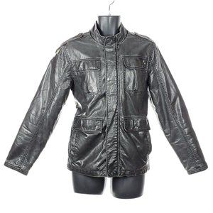 BRITCHES Faux Leather Jacket Coat Mens Small